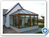 Light oak conservatory polycarb