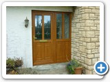 light oak pvc door with bevel