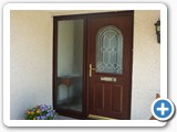 rosewood arched composite door
